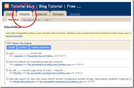 komentar sistem baru blogger