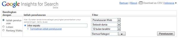 pencarian googlen insight