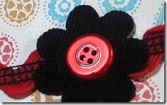 corduroy flower &amp; button