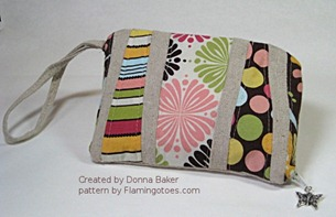 flamingotoes wristlet