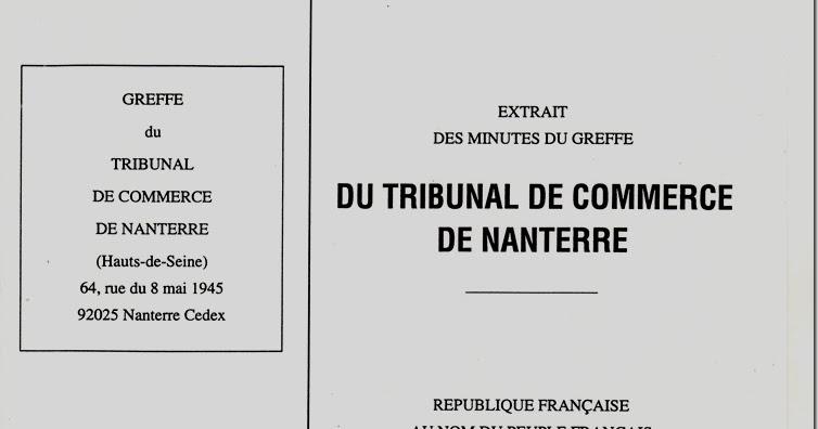 pre rapport de maitre marc baroni 4 jugement rendu par With numero chambre de commerce nanterre