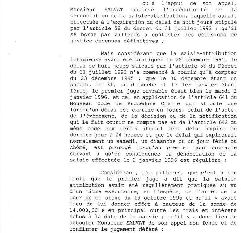 rapport de ma tre marc baroni d cision de rejet du 23 juin 2000 du magistrat d l gu par le. Black Bedroom Furniture Sets. Home Design Ideas