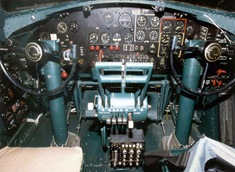 Boeing B-17G Flying Fortress cockpit