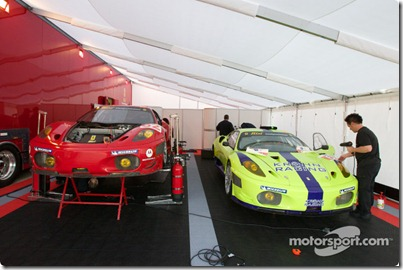 15-20.03.2010 Sebring International Raceway, USA, Risi Competizione paddock area