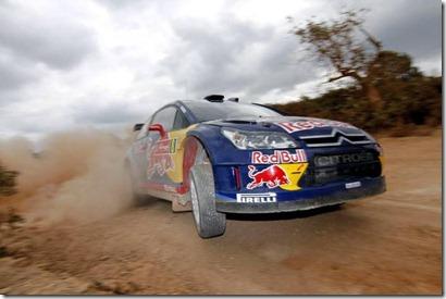 Sebastien Loeb e Daniel Elena na etapa de Portugal do WRC