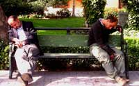 Orang tidur di taman (tb)
