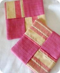 pink coasters