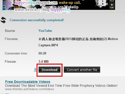ClipConverter 是多功能的下載影片與線上轉換影片的服務,可以將YouTube(HD&HQ)、Google Video、Sevenload、Veoh、MySpace、Dailymotion(HQ)、Vimeo(HQ)、MyVideo、Metacafe、Pornhub等等,把影音網站中的影片進行轉換並且轉檔,或者你也可以上傳自己的影片進行線上轉換。而這些服務是完全免費的!