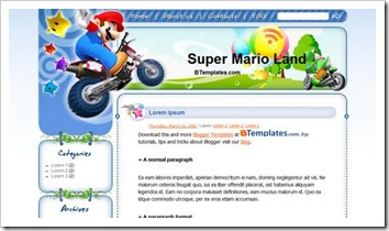 Template - Super Mario