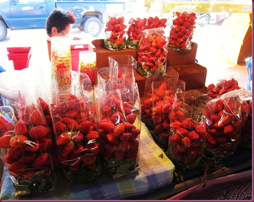 royal flora rajapruek food market strawberry