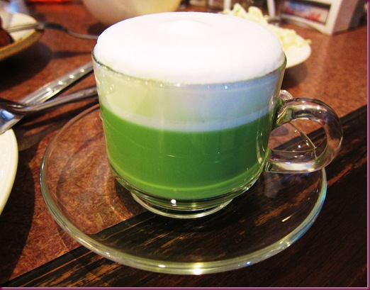 inthanin coffee green tea latte