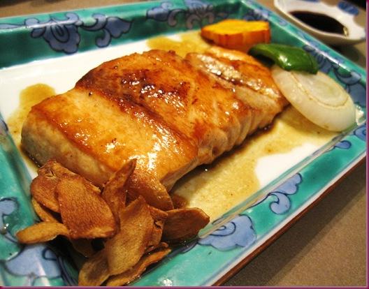 salmon teppan