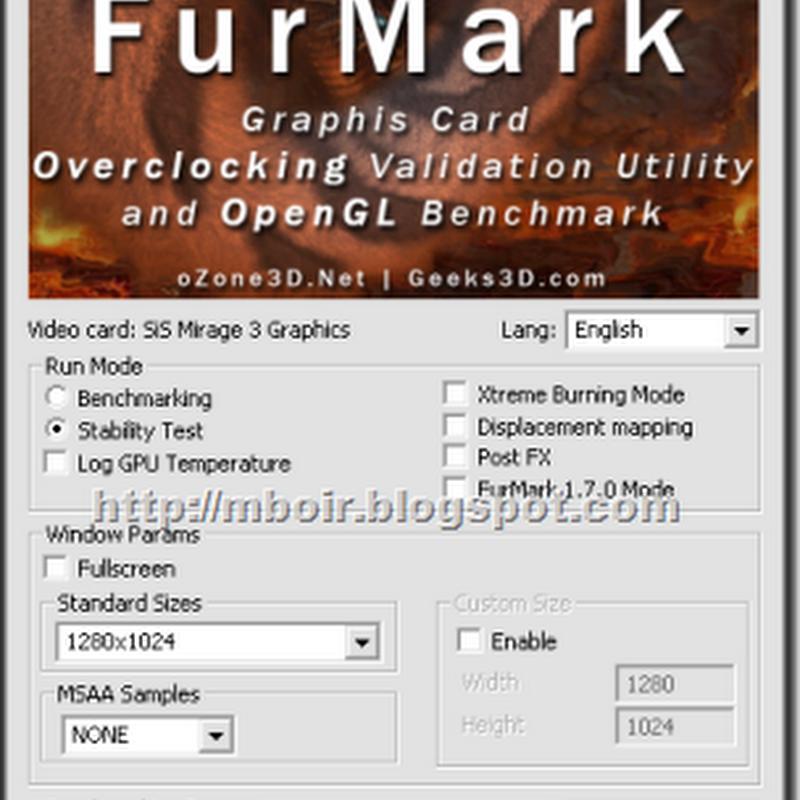 FurMark, Software Untuk Tes Kemampuan VGA