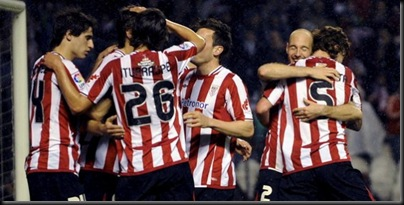 Athletic Club de Bilbao venció 4-3 al Racing de Santander