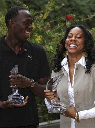La Federación Internacional escogió al jamaicano, campeón en los 100 y 200 metros planos, así como a la estadounidense, ganadora en 400 y 4x400, como los mejores atletas del año