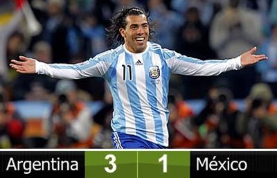 Argentina clasifica a cuartos de final