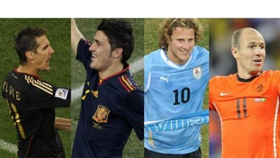 Semifinales Uruguay - Holanda y Alemania - España
