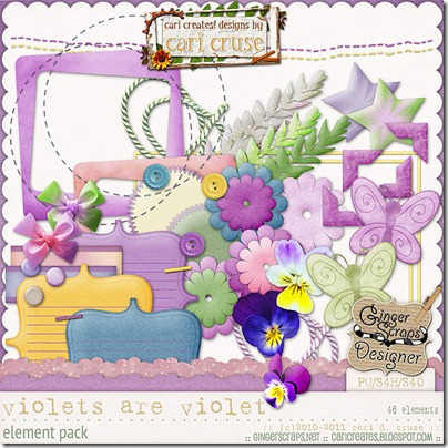 Violets Are Violet {the elements}