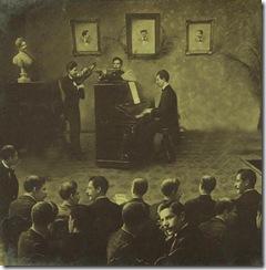 foto velha piano e violino