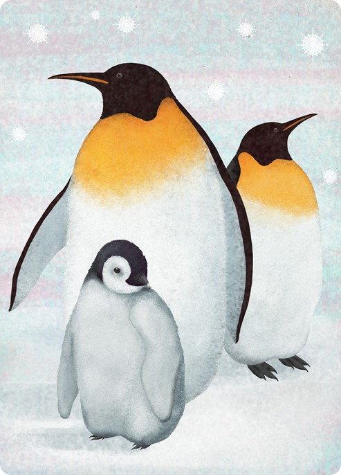 three pinguins by Maria Khersonets