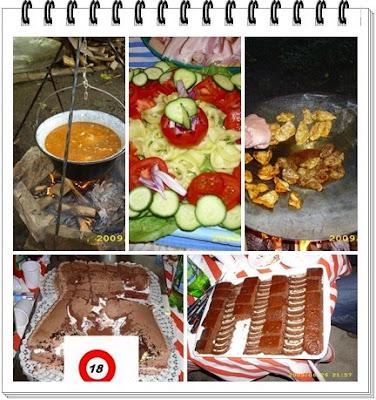 névnapi buli, kerti parti, halászlé, tárcsás hús, sütemények