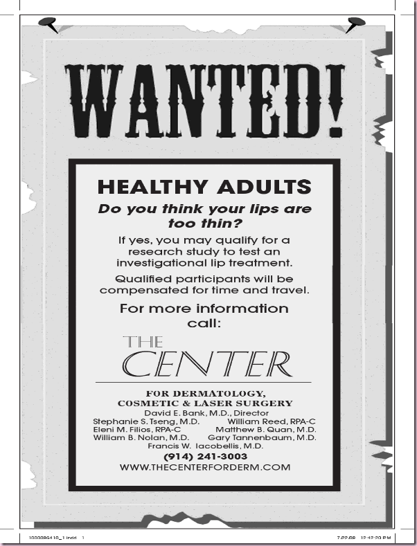 wanted center for derm