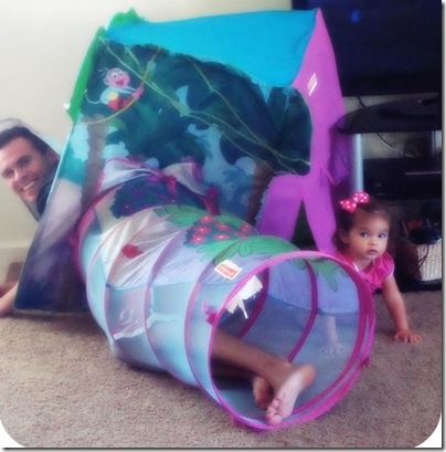 Lily and Daddy playing