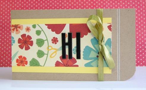 Hi hi Card