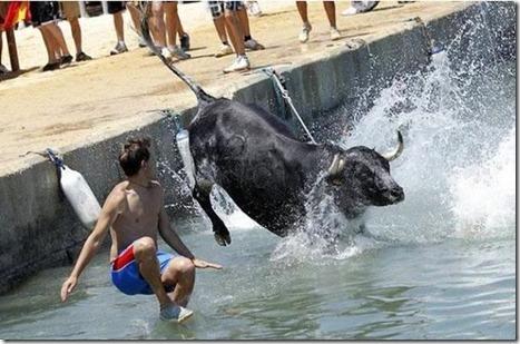Gokil: Bermain Matador di pinggir laut