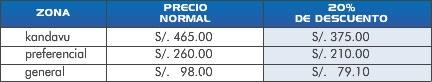 Precio entradas Placebo en Lima Peru