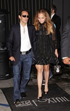 Marc Anthony and Jennifer Lopez leaving Foxtail<br />Los Angeles, California - 02.08.08<br />Credit: RHS/WENN