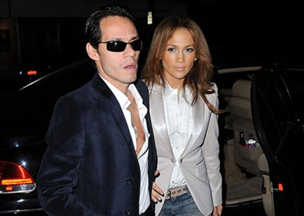 Marc Anthony and Jennifer Lopez<br />outside Luau restaurant<br />Los Angeles, California - 16.12.08<br />Credit: (Mandatory): WENN