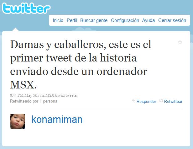 twitter, MSX, konamiman
