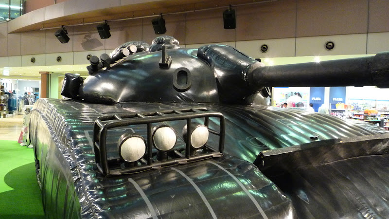 tanque hinchable, 空気戦車, inclatable tank, retired weapons, IMS, peace garden