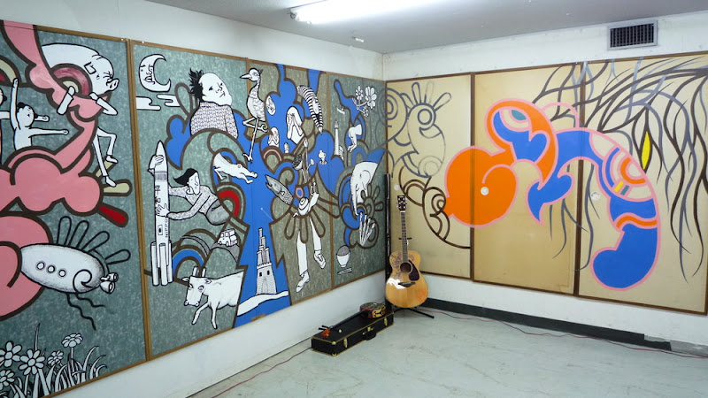 稲口マンゾ 壁画 mural Manzo Inaguchi Fukuoka 福岡