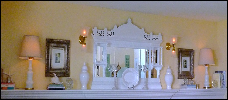 Summer mantle in white 002