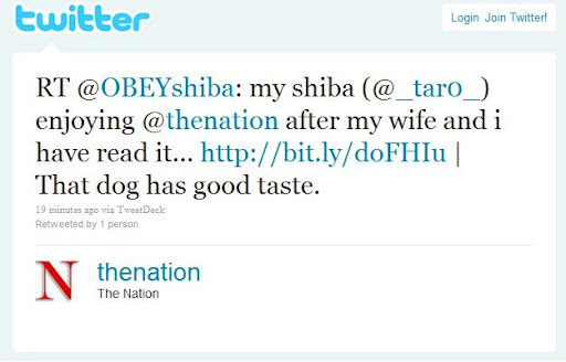 the nation retweets taro's the nation advertisement