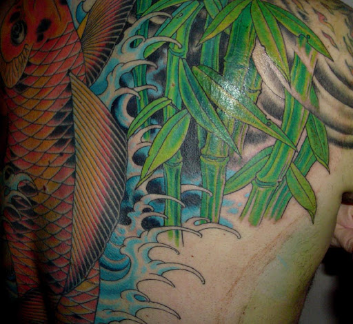 Bamboo Leaves and Cane Tattoo. Tags: bamboo leaves tattoo