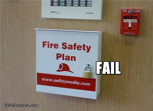 fire safety plan fail 1 2 3 4 5 category fail pictures added by