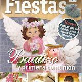 FIESTAS BAUTIZO Y PRIMERA COMUNION N87  Manualidades Foami