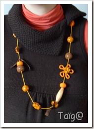 Sautoir Orangé différentes textures - Fév 2010