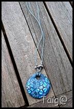 Donut fleurs bleues petit format - Avril 2010