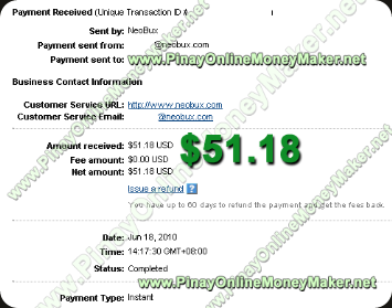 Neobux Payment Proof 2010 June 18