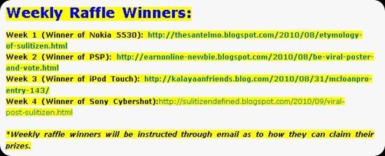 Sulit's Weekly Raffle Winners - JustAnotherPixel.net