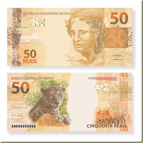 Novas cédulas nota de 50 reais