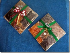 Tabua de frutas secas para presente de Natal