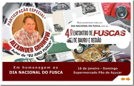 Bauru Banner dia Nacional do Fusca