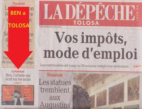 Portada DDM 060511 Tolosa