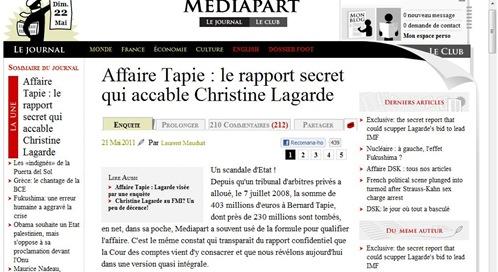 Affaire Tapie Mediapart 220511