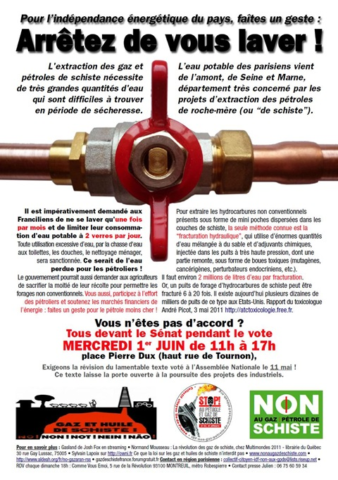 protestacion del nòrd gas de sistre